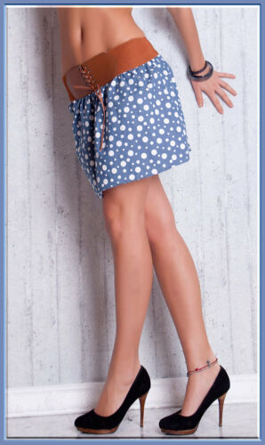 Minirock Hippie Vintage Petticoat Blumen Volant Kurz Stufen Rock*XS S M-34 36 38