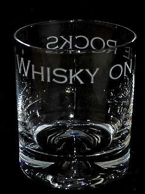 WHISKY ON THE ROCKS ~ Boxed GLASS TUMBLER *WHISKY GIFT*