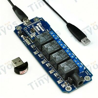 USB/Wireless Relay Module 5V 4 Channel Bluetooth Remote Control Kit