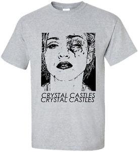 New-Madonna-Crystal-Castles-2-pop-music-dance-singer-unisex-Grey-t-shirt