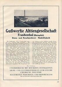 Eisengiesserei-Frankenthal-Reklame-amp-Historie-1926-Modellfabrik-Metall-gegr-1906