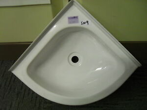 plastic bathroom sink caravan motorhome boat bathroom white plastic corner 13999