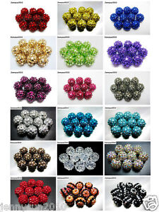 New-Release-40pcs-Resin-Rhinestones-Round-Ball-Spacer-Beads-Pick-Colors-and-size