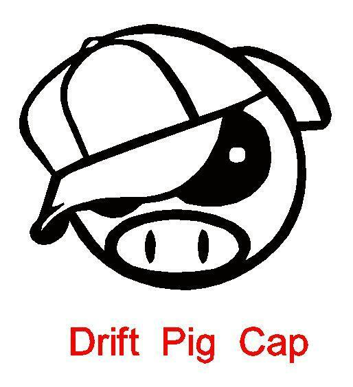 Drift Pig mit Capy JDM Sticker oem aufkleber mütze schwein