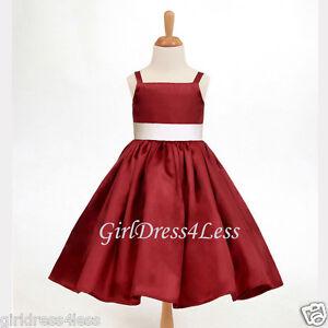 APPLE-RED-SPAGHETTI-STRAPS-JUNIOR-FLOWER-GIRL-HOLIDAY-DRESS-12-18M-2-4-6-8-10-12