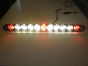 USA-MADE-TecNiq-Red-3-ID-Bar-w-Reverse-white-light-11-LED-15-034-Truck-Trailer-RV