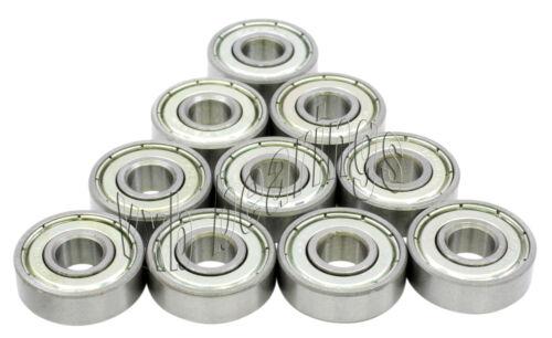 """10 0.5 x 0.75 x .156 Bearing R1212ZZ 1//2/""""x 3//4/""""x 5//32/"""" inch Ball Bearings Pack"""