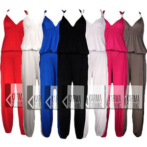 LADIES-LONG-MAXI-COIL-JUMPSUIT-WOMENS-CUFFED-PLAYSUIT-TOP-8-10-12-14