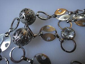 Vintage Czech link necklace ornate metal beads crystal glass rhinestones - <span itemprop=availableAtOrFrom>Westerham, United Kingdom</span> - Vintage Czech link necklace ornate metal beads crystal glass rhinestones - Westerham, United Kingdom