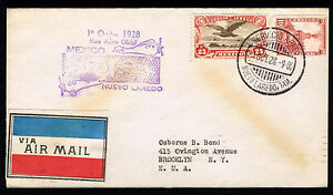FISRT FLIGHT NUEVO LAREDO MEX. TO NY. OCT. 1, 1928 RAC#1 NORTHBOUND (ESP#849)