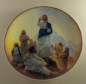 SERMON-ON-THE-MOUNT-The-Life-of-Christ-Plate-Lord-God-Religious-Franklin-Mint