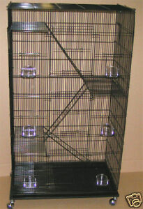 5-level-Ferret-Chinchilla-Sugar-Glider-Rat-Cage-Cages-2493-Black