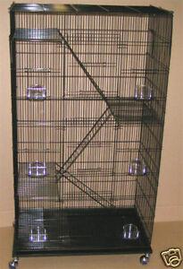 5-level-Ferret-Chinchilla-Sugar-Glider-Rat-Cage-Cages-2493-Black-Cage