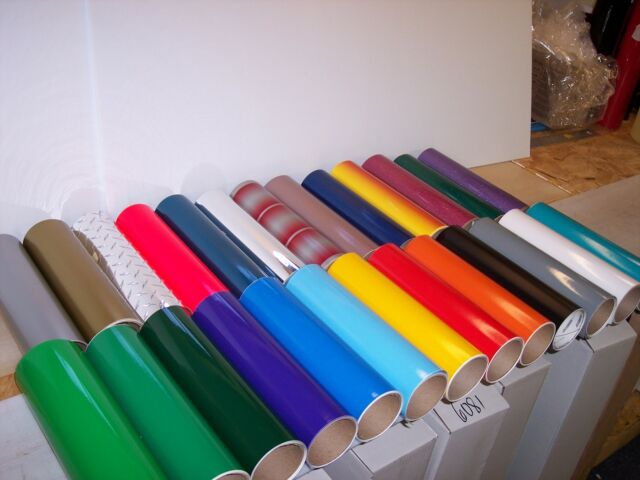 50 Self adhesive Hobby/Sign vinyl sheets ( Odd Sizes, most at least 6