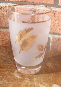 Vintage-Gold-Leaf-Leaves-Frosted-Liquor-Bar-Juice-Glass