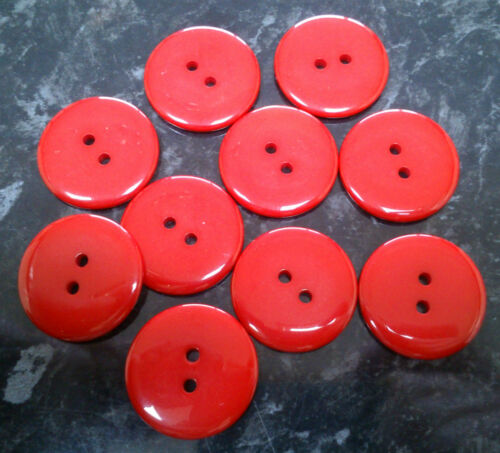 various colours blue pink green 10 x Resin Medium Round Buttons 23mm 2 holes