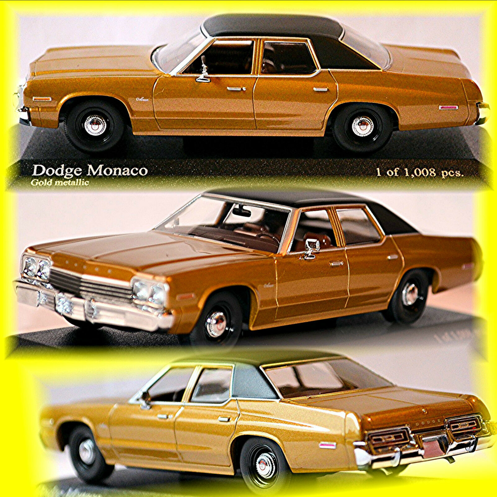 Dodge Monaco Génération II 1974-77 or Metallic 1 43 Minichamps