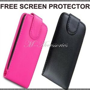 NEW-FLIP-PU-LEATHER-CASE-COVER-POUCH-FOR-MOBILE-PHONE-FREE-SCREEN-PROTECTOR