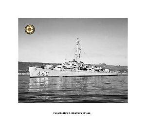 USS-CHARLES-E-BRANNON-DE-446-Destroyer-Escort-US-Ship-USN-Navy-Photo-Print