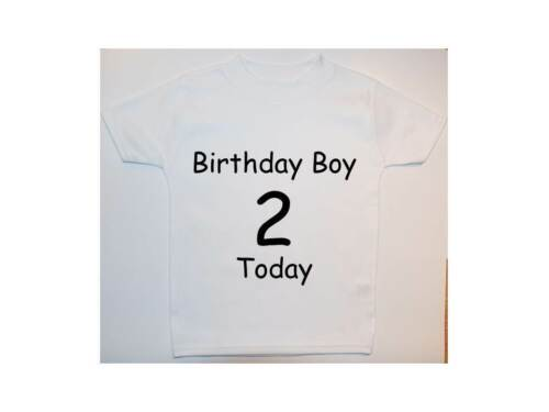 Personalised Birthday Boy Name Baby Children T Shirt Top Newborn-6years Gift