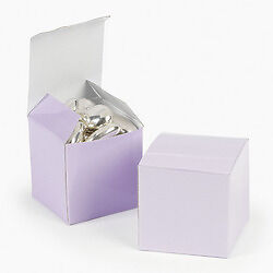 "Lilac 2/"" Square Favor Boxes EACH Birthday WEDDING Treat #32609"