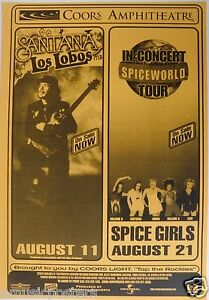 SANTANA-WITH-LOS-LOBOS-SPICE-GIRLS-1998-SAN-DIEGO-CONCERT-TOUR-POSTER