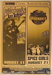 SANTANA-WITH-LOS-LOBOS-SPICE-GIRLS-1998-SAN-DIEGO-CONCERT-TOUR-POSTER