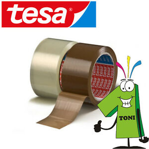 12-Rollen-TESA-Packband-64014-PP-leise-abrollend-TOP-Paketklebeband-Paketband