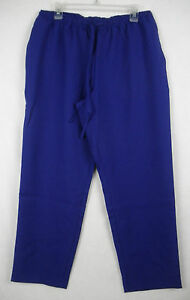 Silhouettes-Womens-Crepe-Drawstring-Pants-Royal-Blue-3X-499A-521044