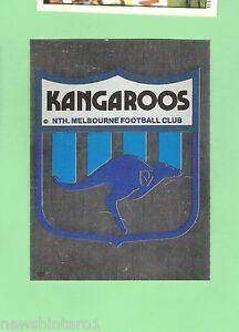 1983 SCANLENS VFL STICKER #123 NORTH MELBOURNE KANGAROOS FOIL EMBLEM