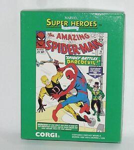 Corgi-98972-Marvel-Amazing-Spider-Man-Set-Morris-J-1000-Vans-1-43-NIB-1992