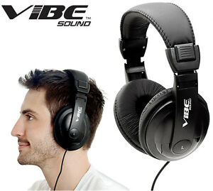 Vibe-Sound-750-DJ-Style-Noise-Cancelling-Stereo-Headphones-Black-NEW