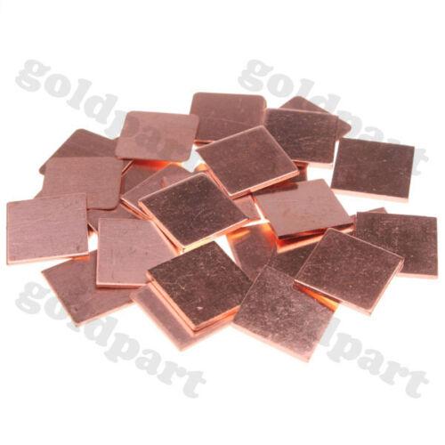 30pcs Laptop GPU CPU Heatsink Copper Shim 15mmx15mm