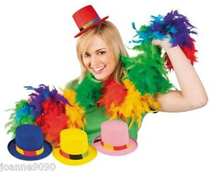 ADULT-MINI-CLOWN-TOP-HAT-HEN-PARTY-FANCY-DRESS-COSTUME-ACCESSORY-COMIC-RELIEF