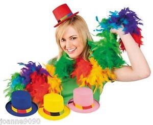ADULT-MINI-CLOWN-TOP-HAT-HEN-PARTY-FANCY-DRESS-COSTUME-ACCESSORY-COMIC-RELIEF