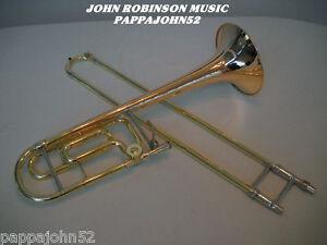 BENGE-165F-Tenor-Trombone-w-F-ROSE-BRASS-BELL-1998-5G-King-mouthpiece-4B-slide