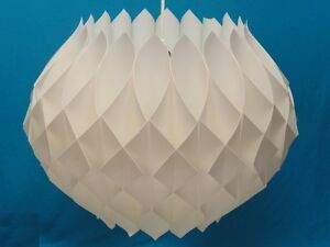 1960s-MODERN-SCANDINAVIAN-HAND-FOLDED-BENT-PLASTIC-PENDANT-LAMP-23-x-17