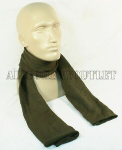 """USGI Military Army 100% Wool 52"""" OLIVE GREEN SCARF SCARVE Double Knit EXC"""