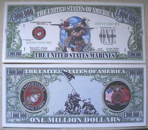 Biglietto-SEGNALIBRO-banconota-DOLLARO-Marines-USA-america-guerra-militaria