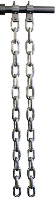 Ader Zinc Weightlifting Power Lifting Chains W/ Collars- 44lb Pair (WLC-44Z)