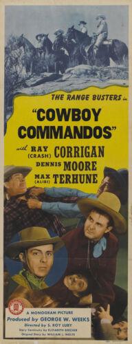 Ray Corrigan Cult Western movie poster print Cowboy Commandos 1943