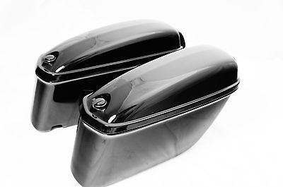 LCX Small Universal Saddlebags For Honda Suzuki Kawasaki Harley Yamaha Victory