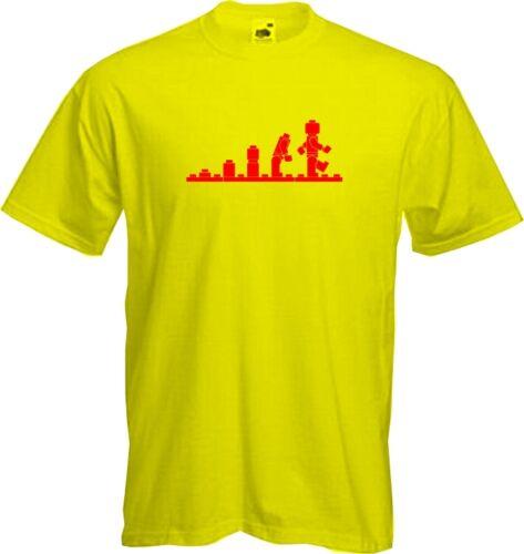 Quality T Shirt LEGO EVOLUTION *NEW* funny toys geek big bang sheldon