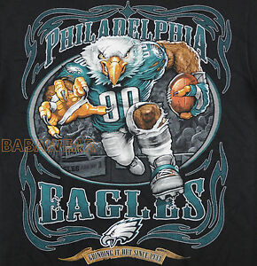 Eagles running back t shirt black nfl philadelphia for Eagles football t shirts