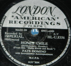 FATS-DOMINO-HONEY-CHILE-b-w-DON-039-T-YOU-KNOW-UK-LONDON-78-RPM-RECORD-E-GRADE