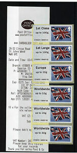 FLAGS-Post-and-Go-ST-JOHNS-WOOD-COLLECTORS-STRIP-OF-6-SCARCE-OFFICE