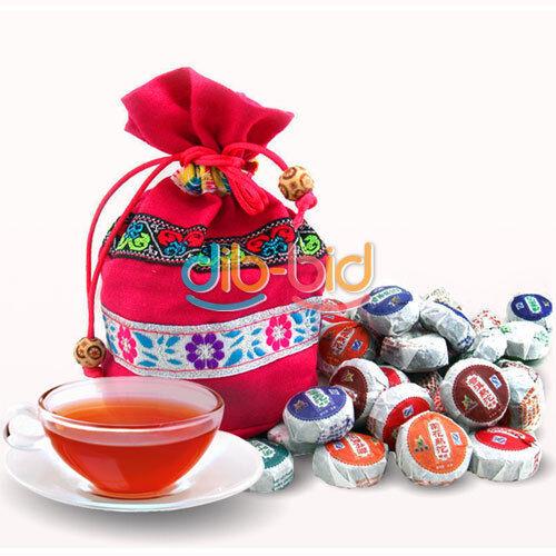 New 50 Pcs 220g Yunnan Puer Puerh Tea Mix Ripe Raw Mini Tuo Tea Cooked #8 SS