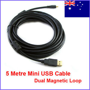 Premium-5-Metre-USB-2-0-Type-A-to-Mini-B-5-Pin-Mini-USB-Data-Cable-AU