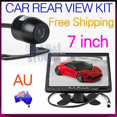 "Car Rear View Kit 7"" TFT LCD Monitor + 170° Angle Reverse Back Parking Camera"