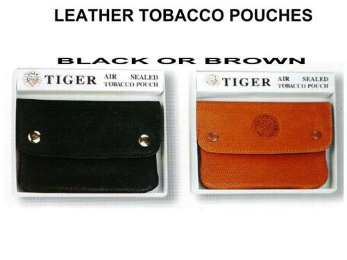 Genuine-Leather-Cigarette-Tobacco-Pouch-Bag-Tiger-great-quality-lot-of-two
